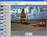 Digital picture album thumbnails with annotations