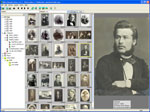 Genealogical digital picture album