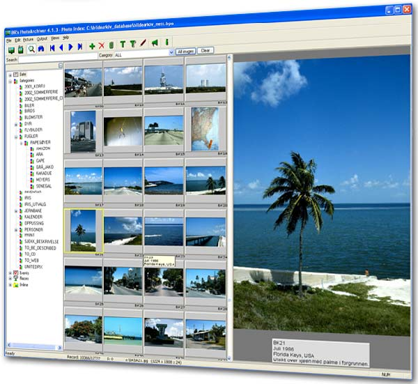 A quick and easy program to help you catalogue your digital photos.
